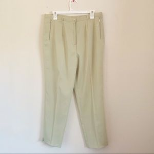 Vintage Light Green Bedazzled Trouser Pants Jewel